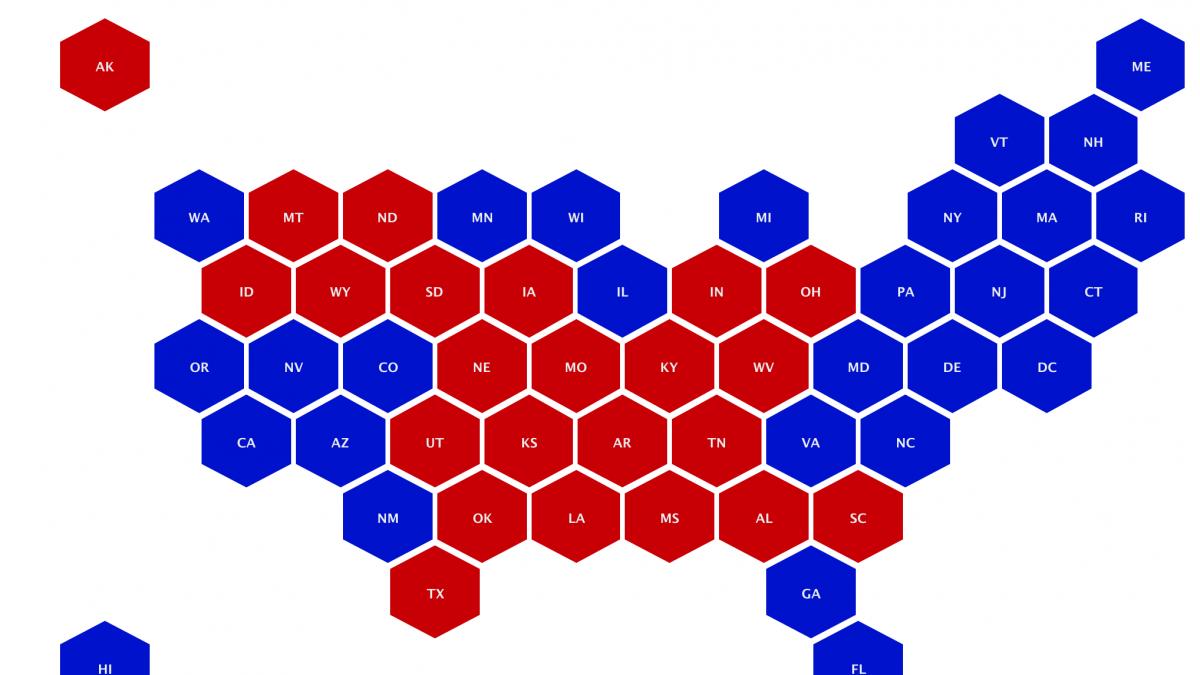 Honeycomb map