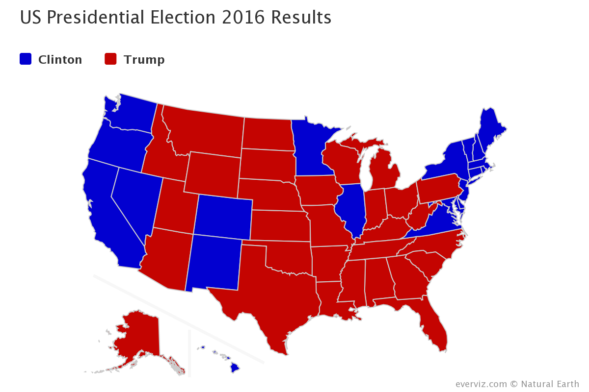 US presedential election category map