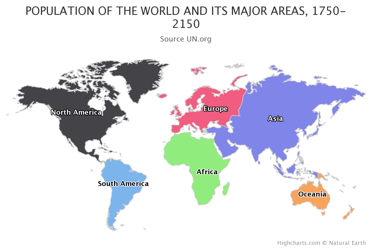 Population of the world category map