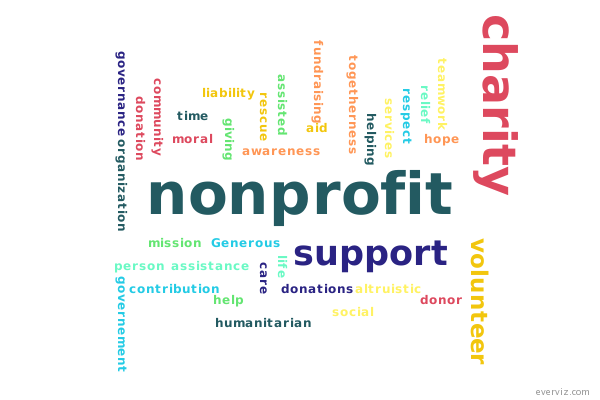 nonprofit wordcloud