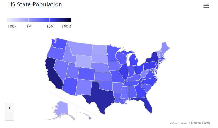 US State Population – Choropleth map